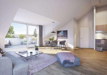W1.8: Tolle 3-Zimmer-Neubau-Wohnung mit großzügiger Dachterrasse, 88214 Ravensburg, Etagenwohnung