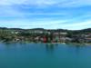 Seltene Gelegenheit: Freistehendes Einfamilienhaus mit See- und Bergsicht und Privatstrand - Privatstrand aus der Luft